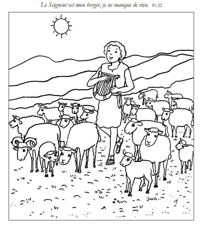coloriage le Seigneur est mon berger.JPG